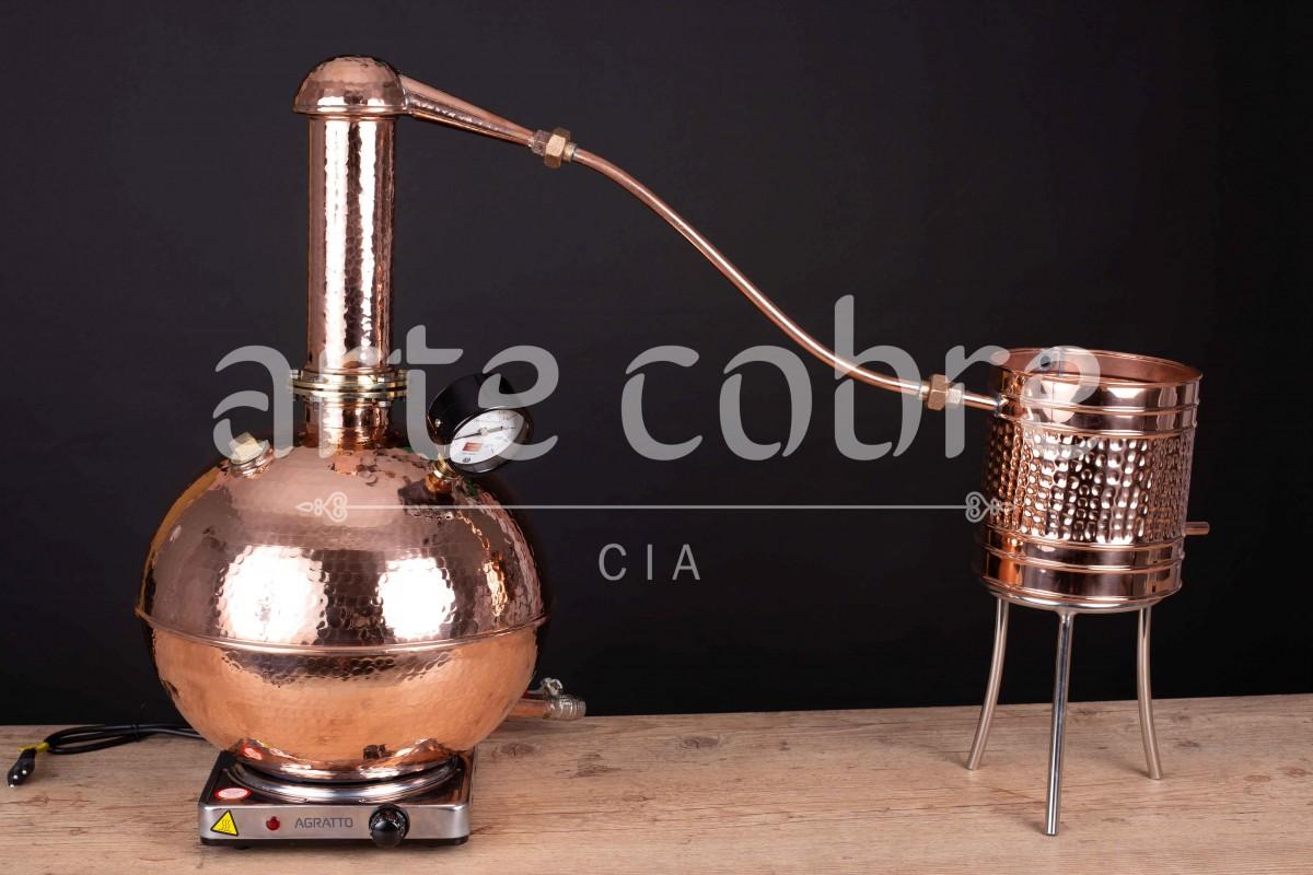 Foto 1 - Alambique De Cobre Gin 10 Litros