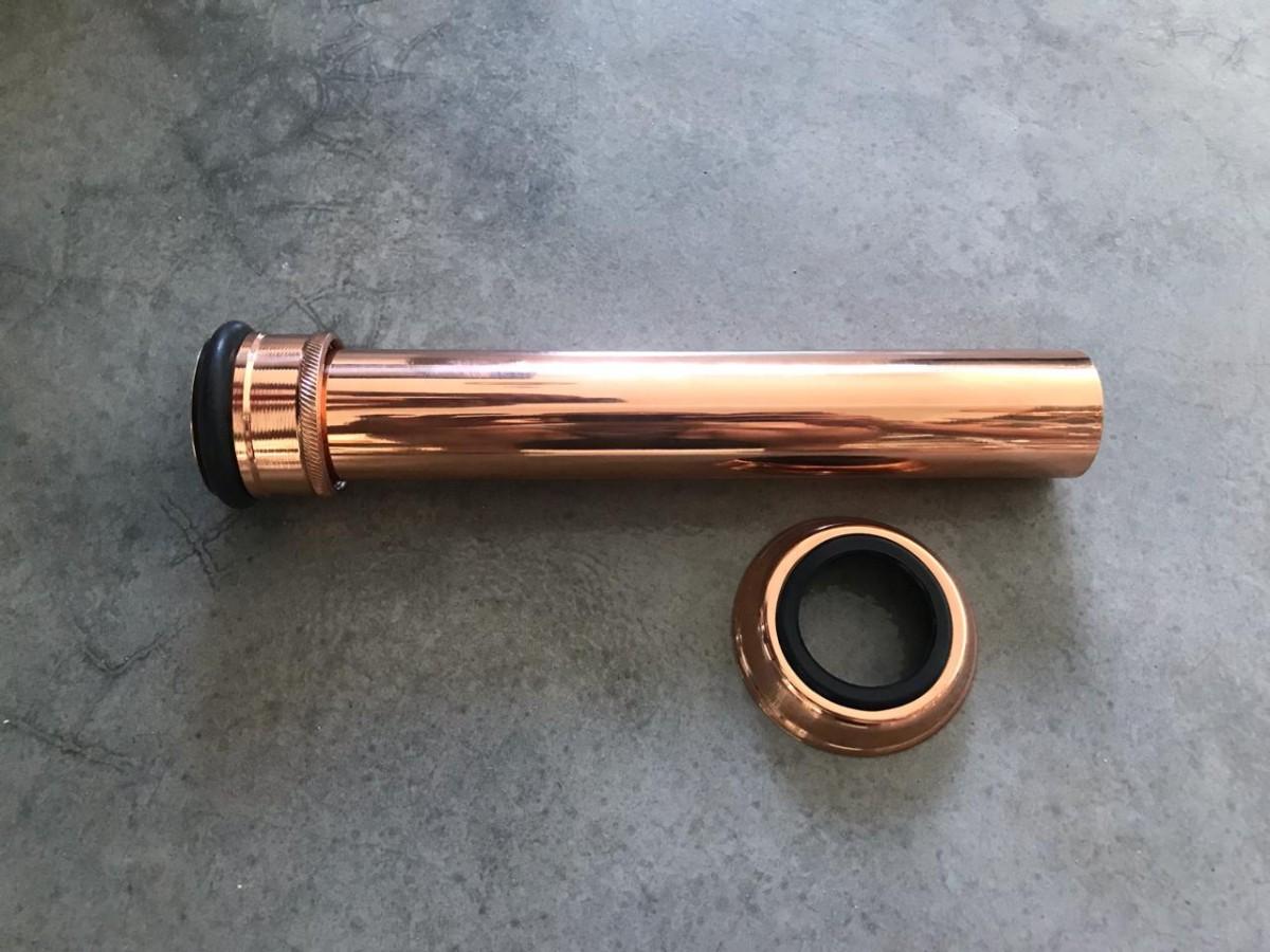 Foto3 - Tubo de ligação ajustável em liga de cobre