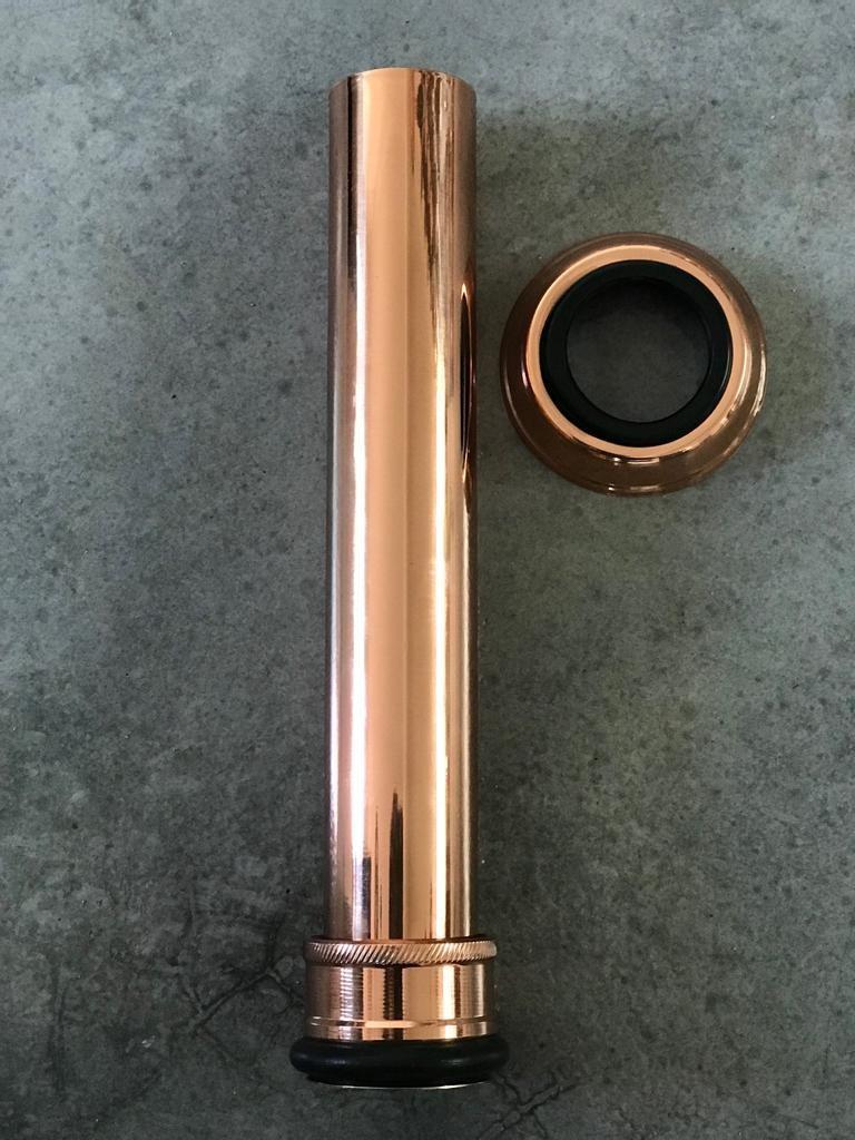 Foto2 - Tubo de ligação ajustável em liga de cobre
