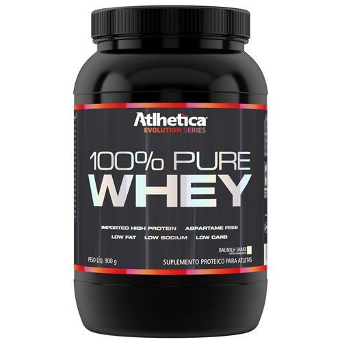 Foto 1 - 100% Pure Whey Protein Evolution Series Low Carb - 900g Morango - Atlhetica