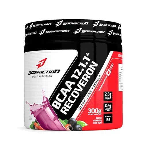 Foto 1 - BCAA 12:1:1 Recoveron - 100g Açaí c/ Guaraná - BodyAction