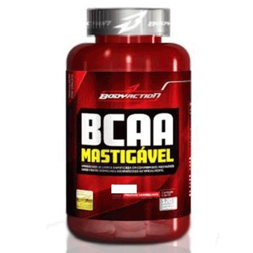 Foto 1 - BCAA Mastigável - 120 Comprimidos Frutas Vermelhas - BodyAction