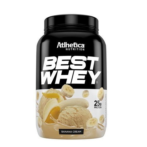 Foto 1 - Best Whey Atlhetica Nutrition Banana 900G
