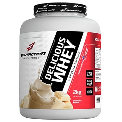Foto 1 - Delicious Whey - 2000g Chocolate Branco - BodyAction