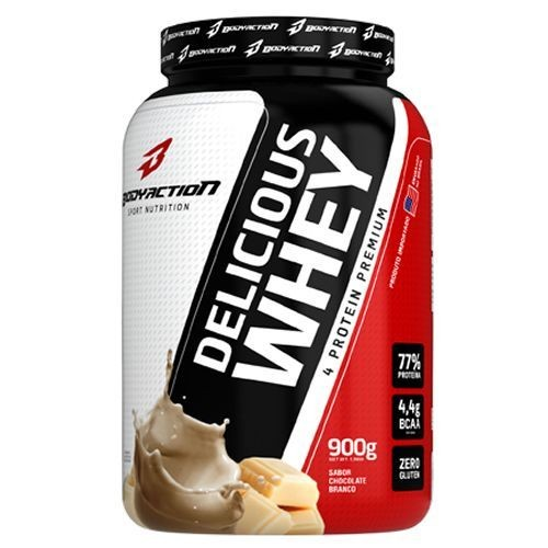 Foto 1 - Delicious Whey - 900g Chocolate Branco - BodyAction