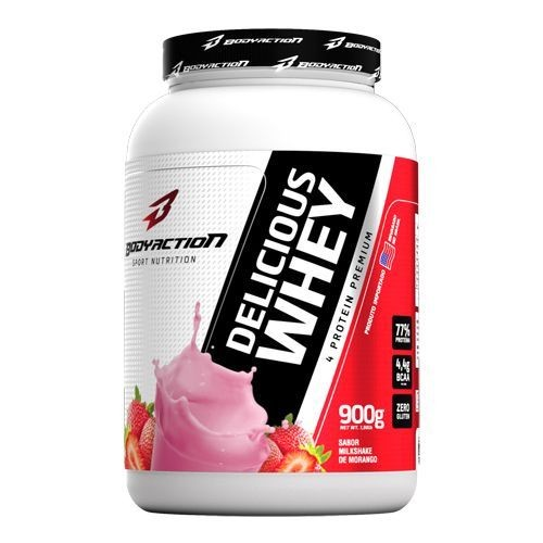 Foto 1 - Delicious Whey - 900g Milkshake de Morango - BodyAction