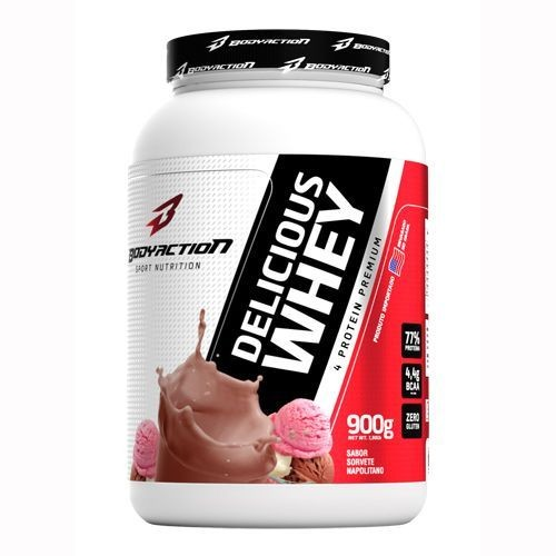 Foto 1 - Delicious Whey - 900g Sorvete Napolitano - BodyAction