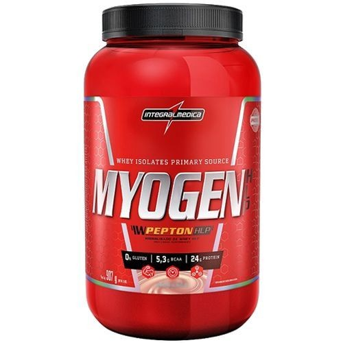 Foto 1 - Myogen HLP Whey Isolado - 907g Morango - Integralmedica