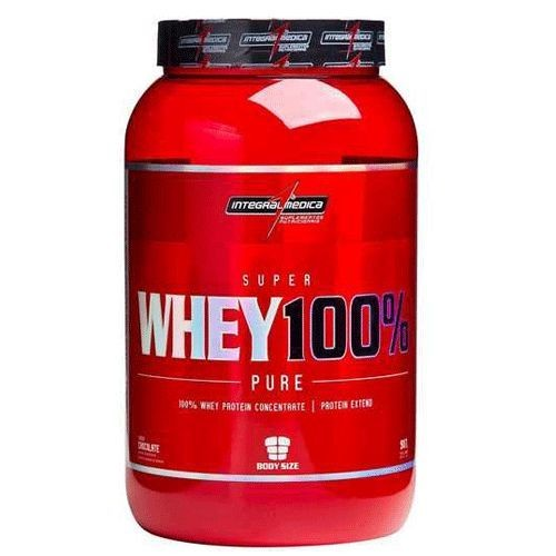 Foto 1 - Super Whey 100% Pure - Chocolate 907g - Integralmédica