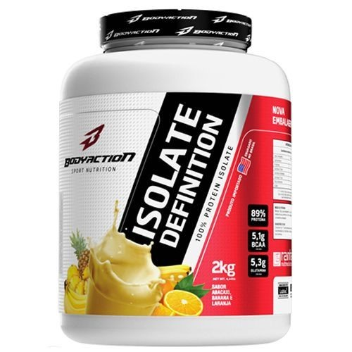 Foto 1 - Whey Isolate Definition - Abacaxi, Banana, Laranja 2Kg