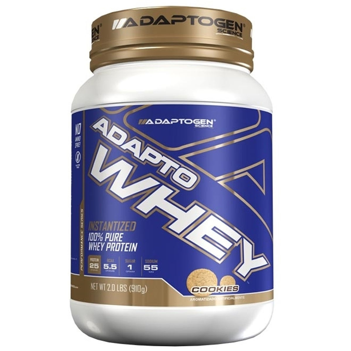 Foto 1 - Adapto Whey Cookies 910g - Adaptogen