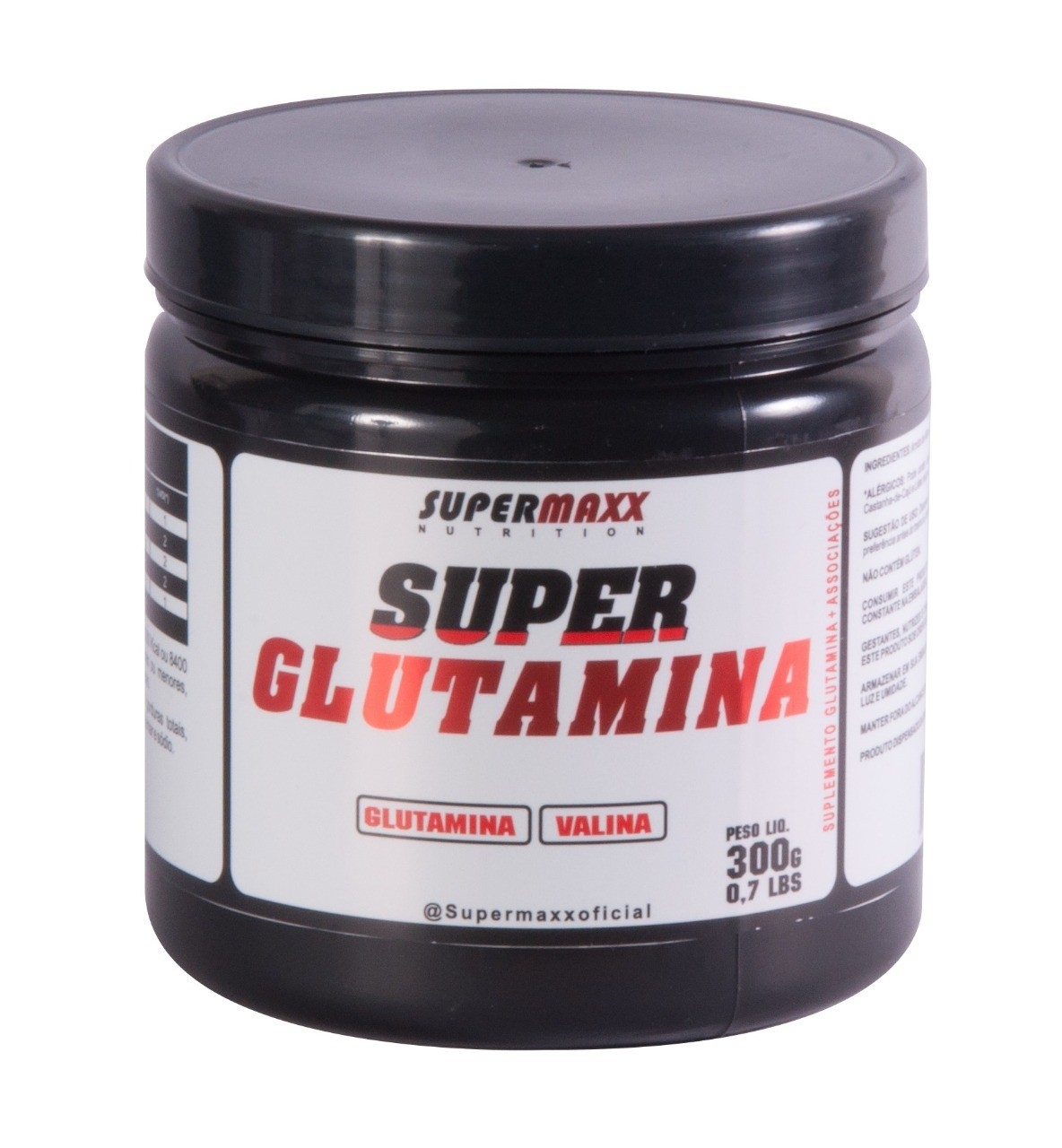 Foto 1 - Glutamina 300g. SuperMaxx