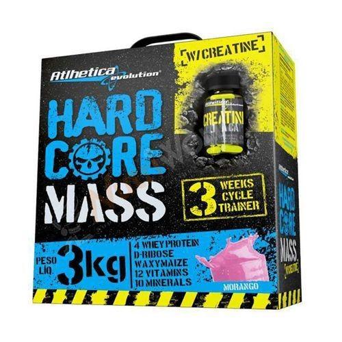 Foto 1 - Hardcore Mass com Creatina Hardcore Series - 3000g + 60 cápsulas Morango - Atlhetica