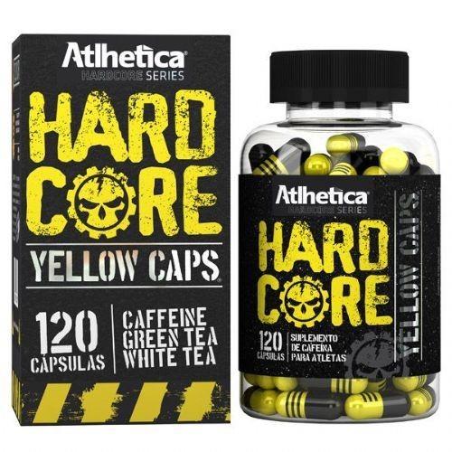 Foto 1 - Hardcore Yellow Caps Hardcore Series - 120 cápsulas 420mg Cafeína - Atlhetica