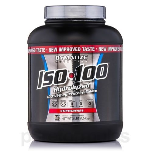 Foto 1 - Iso 100 Whey Protein Isolado - 1.3kg Morango - Dymatize Nutrition