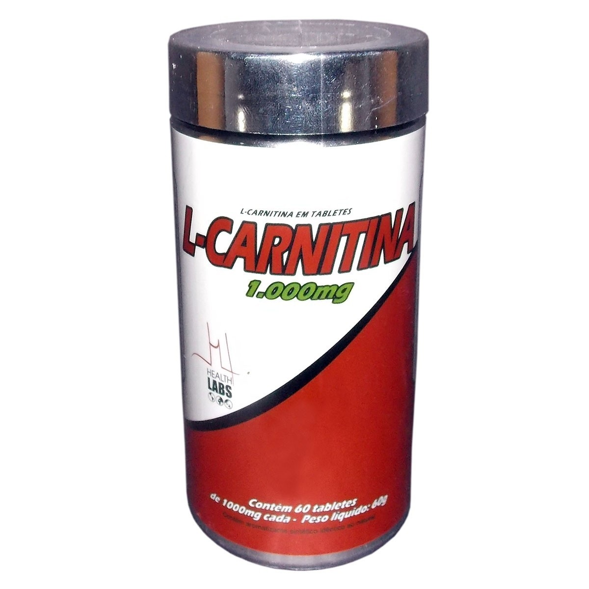 Foto 1 - L-Carnitina 1000mg 60 Tabletes - Health Labs