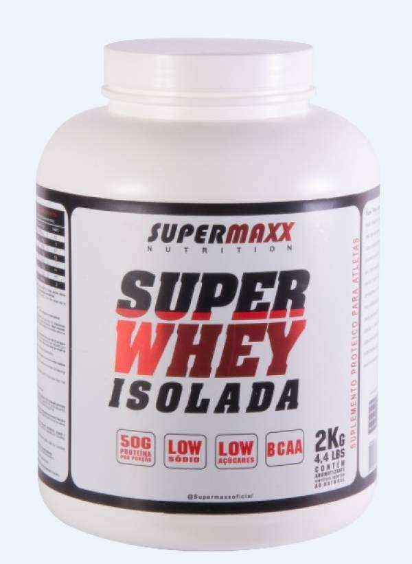 Foto 1 - Super Whey Isolada Chocolate 2Kg. SuperMaxx