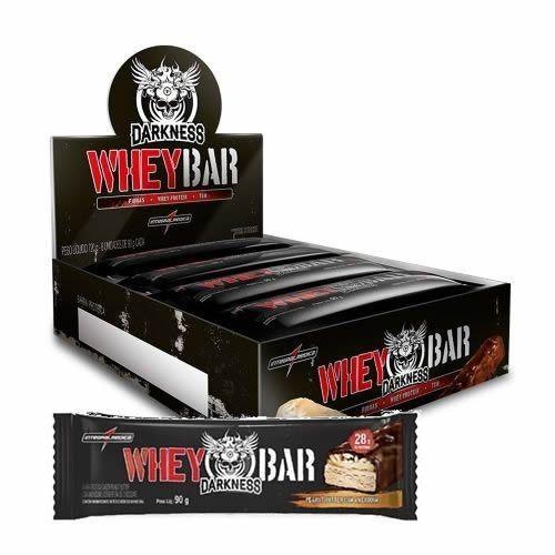 Foto 1 - Whey Bar Darkness - Caixa 8 unidades 90g Doce de Leite com Chocolate Chip - Integralmédica