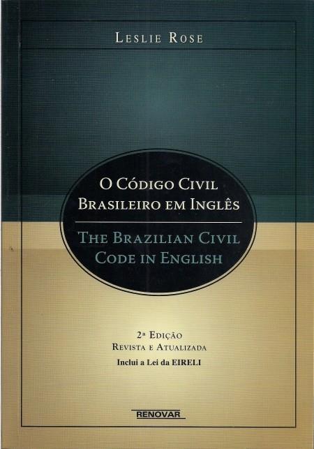 Foto 1 - O Código Civil Brasileiro em Inglês
