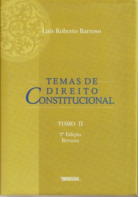 Foto 1 - Temas de Direito Constitucional - Tomo II