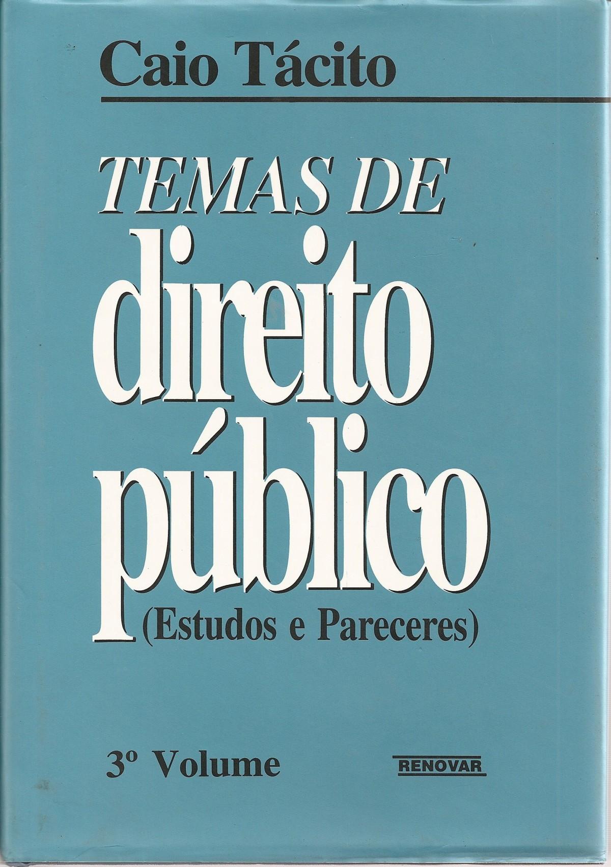 Foto 1 - Temas de Direito Público - Volume III