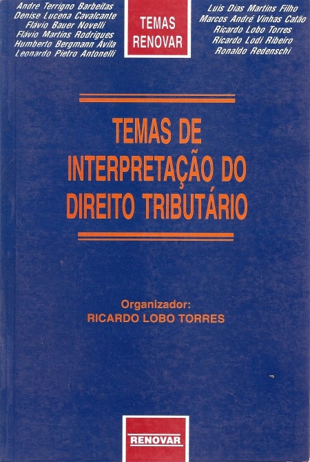 Foto 1 - Temas de Interpretação do Direito Tributário