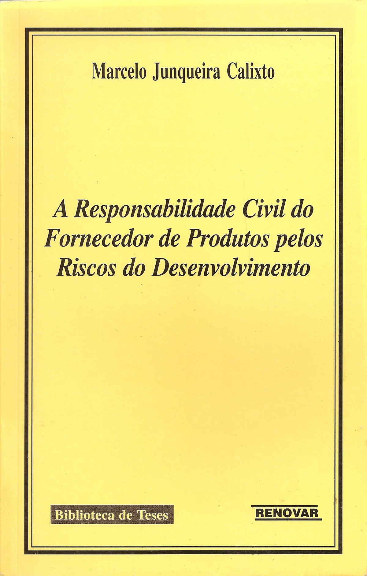 Foto 1 - A Responsabilidade Civil do Fornecedor de Produtos Pelos Riscos do Desenvolvimento