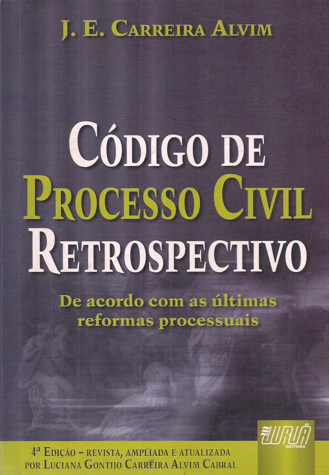 Foto 1 - Código de Processo Civil Retrospectivo