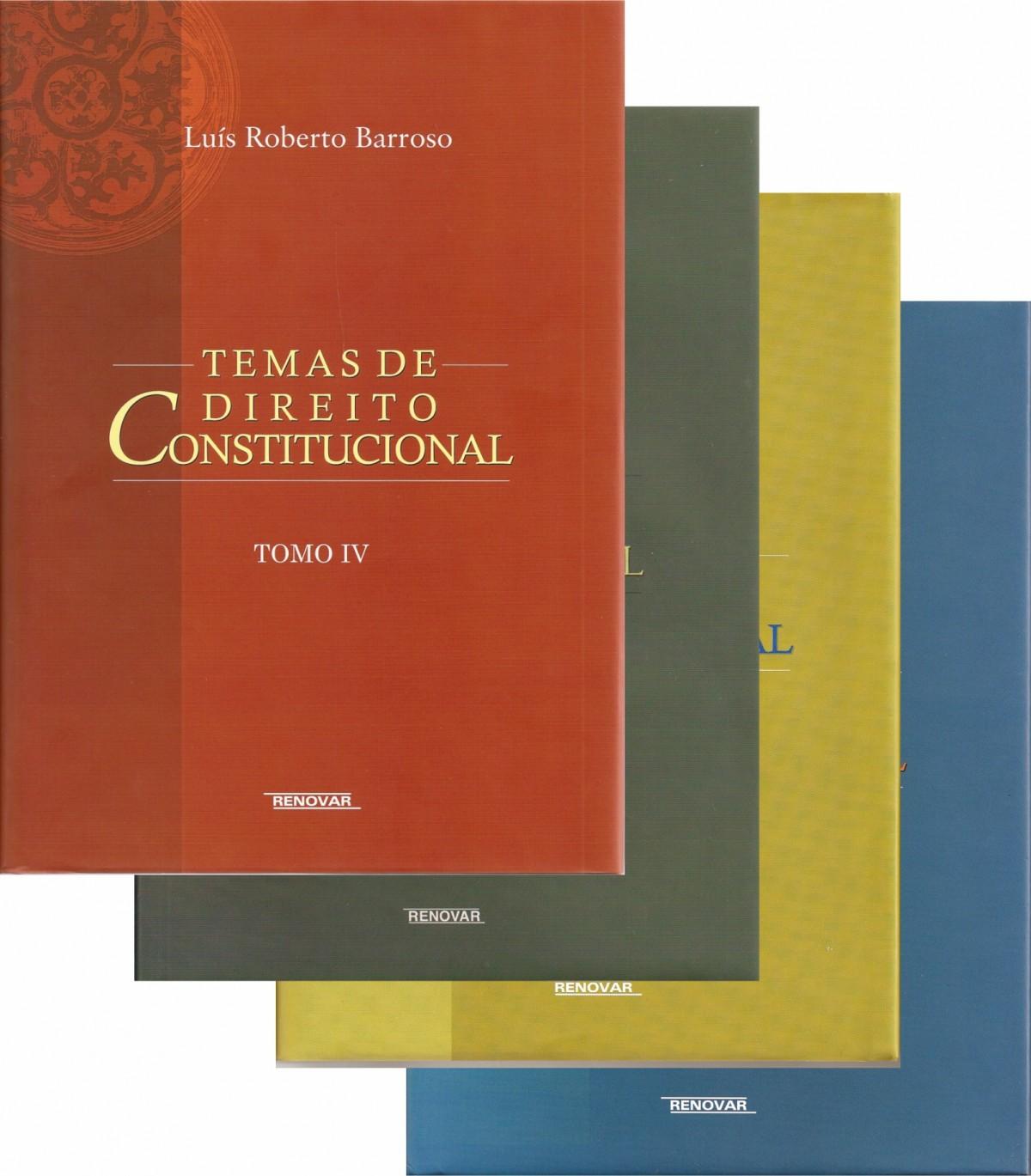 Foto 1 - Coleção Temas de Direito Constitucional - (Tomos I, II, III, IV)