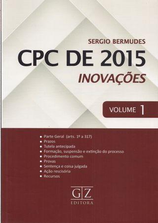 Foto 1 - CPC de 2015 - Inovações - Vol. I