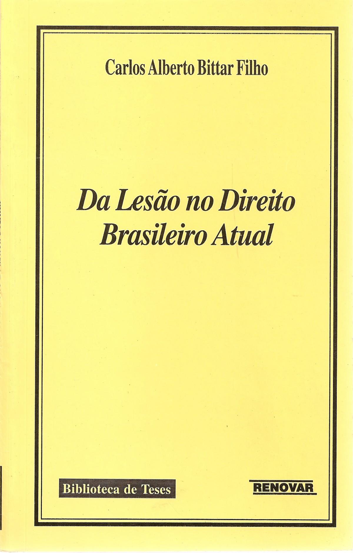 Foto 1 - Da Lesão no Direito Brasileiro Atual