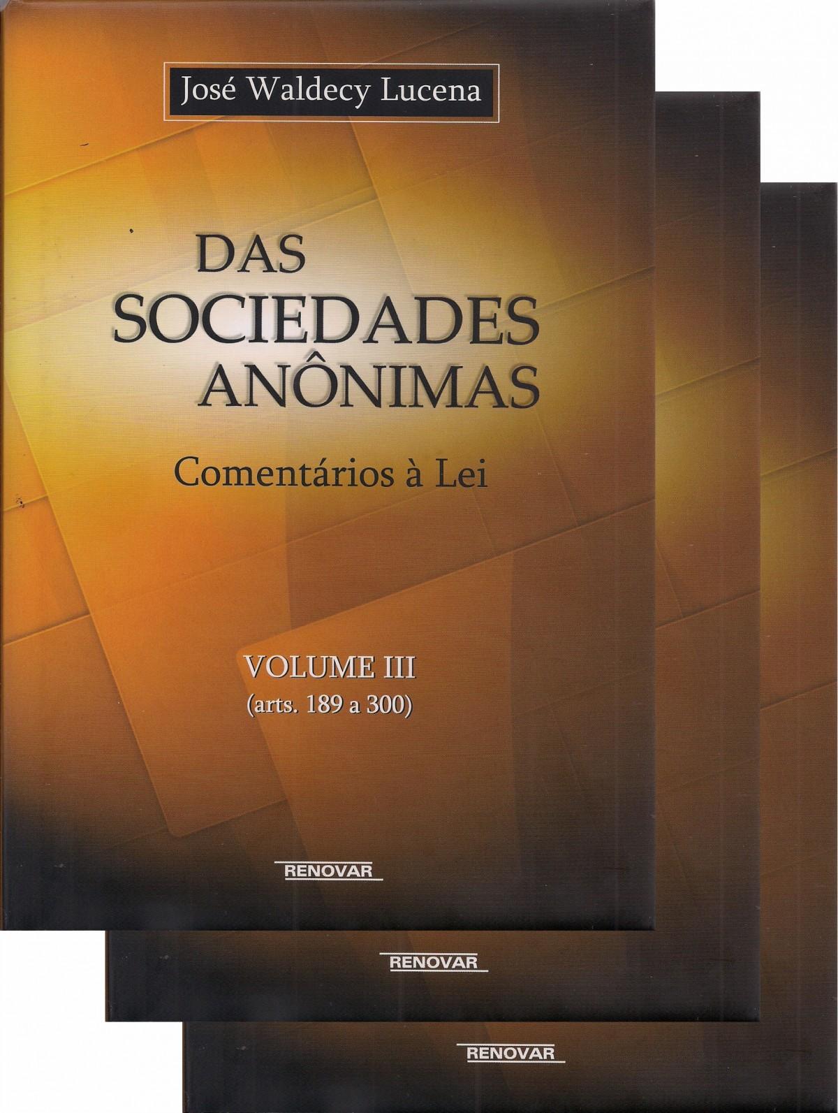 Foto 1 - Coleção das Sociedades Anônimas - 3 Volumes