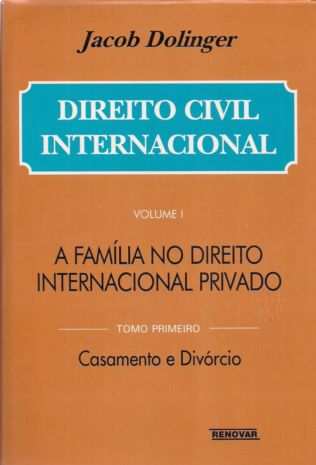 Foto 1 - Direito Civil Internacional - A família no direito internacional privado