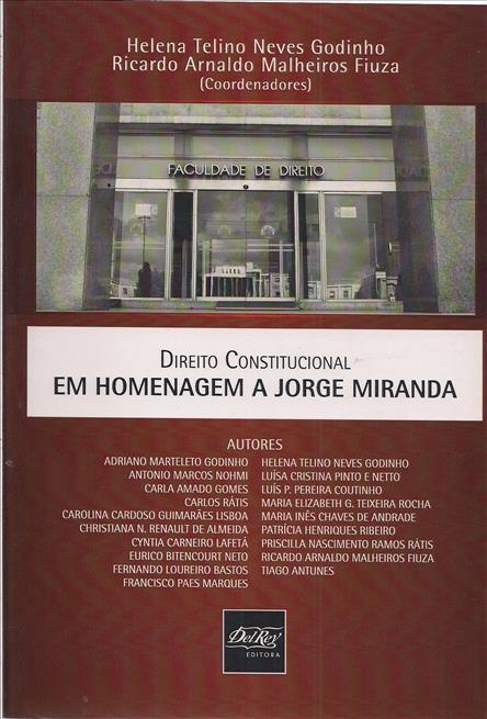 Foto 1 - Direito Constitucional Em Homenagem a Jorge Miranda