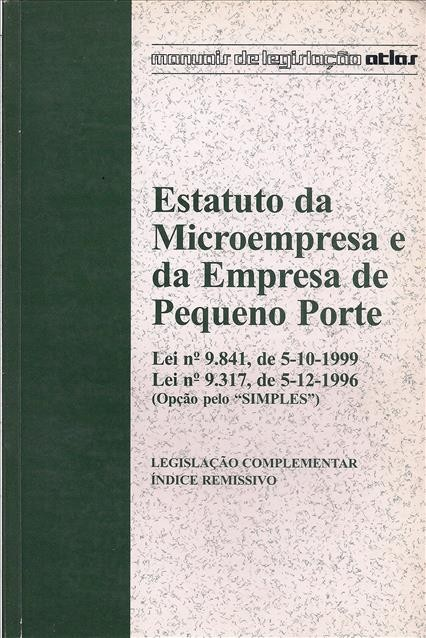 Foto 1 - Estatuto da Microempresa e da Empresa de Pequeno Porte