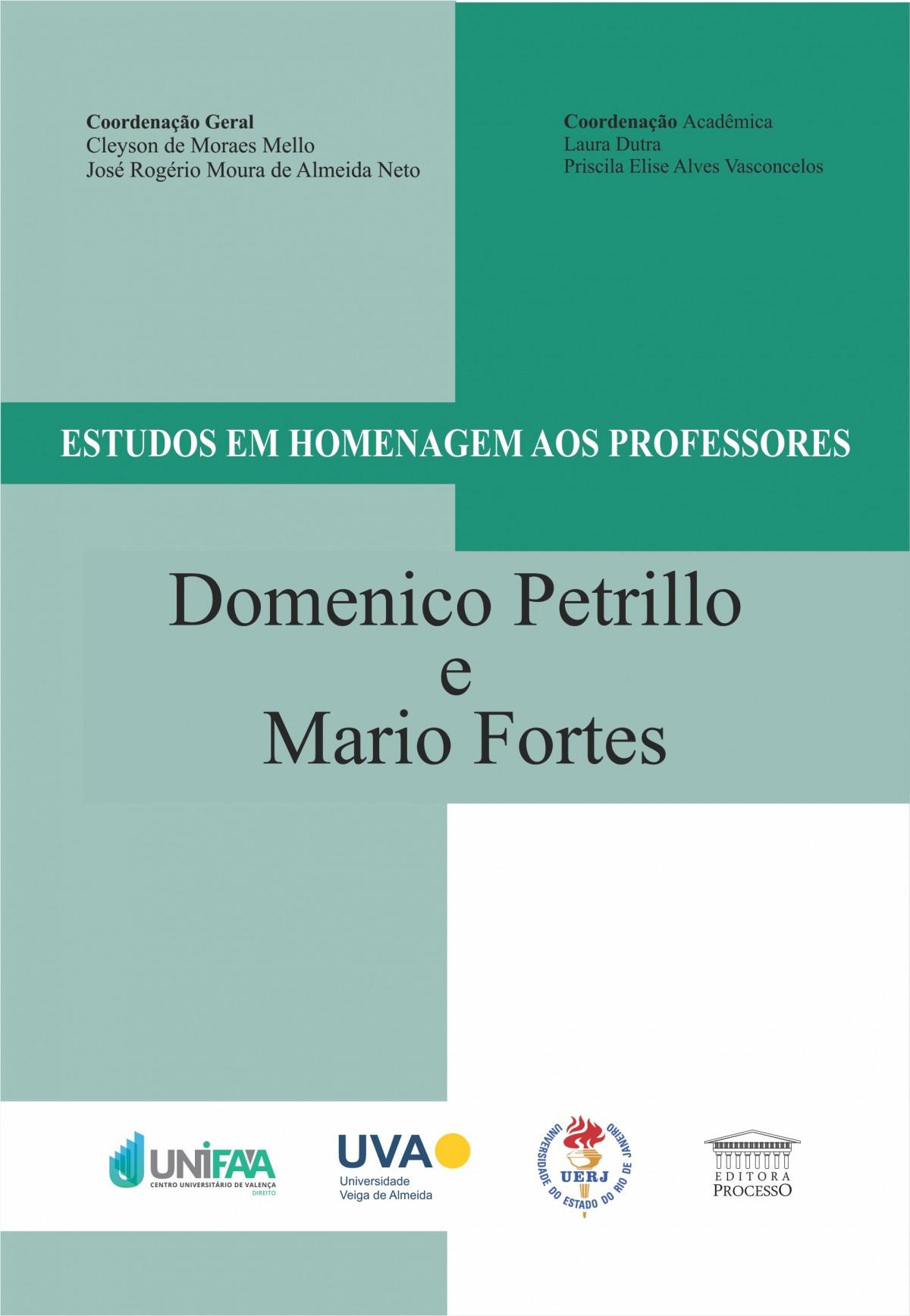 Foto 1 - Estudos em homenagem aos Professores Domenico Petrillo e Mario Fortes