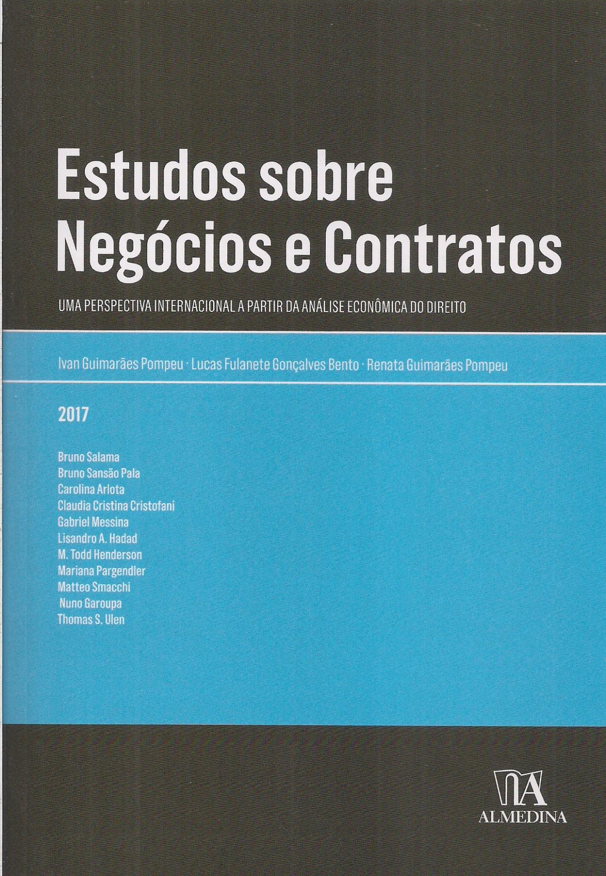 Foto 1 - Estudos sobre Negócios e Contratos - Uma perspectiva internacional a partir da análise econômica do