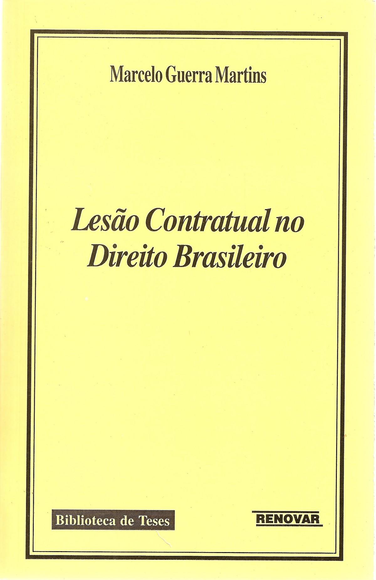 Foto 1 - Lesão Contratual no Direito Brasileiro
