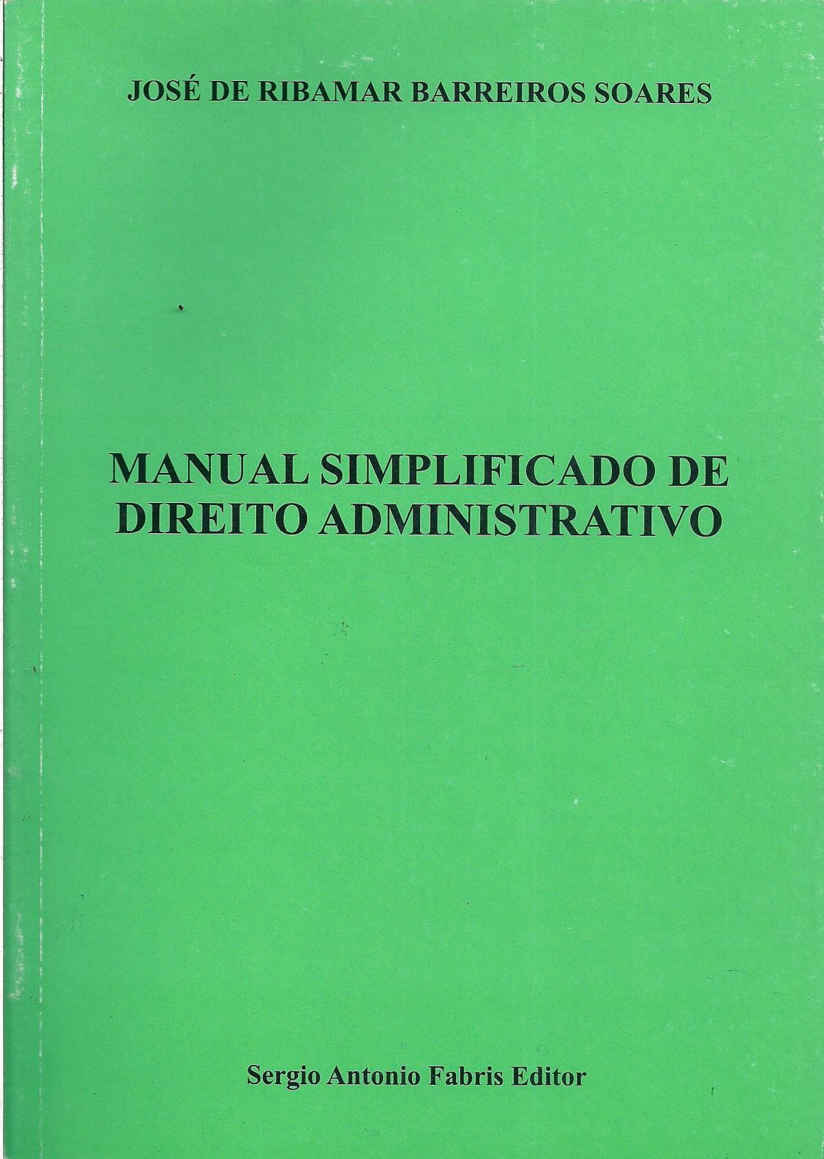 Foto 1 - Manual Simplificado de Direito Administrativo