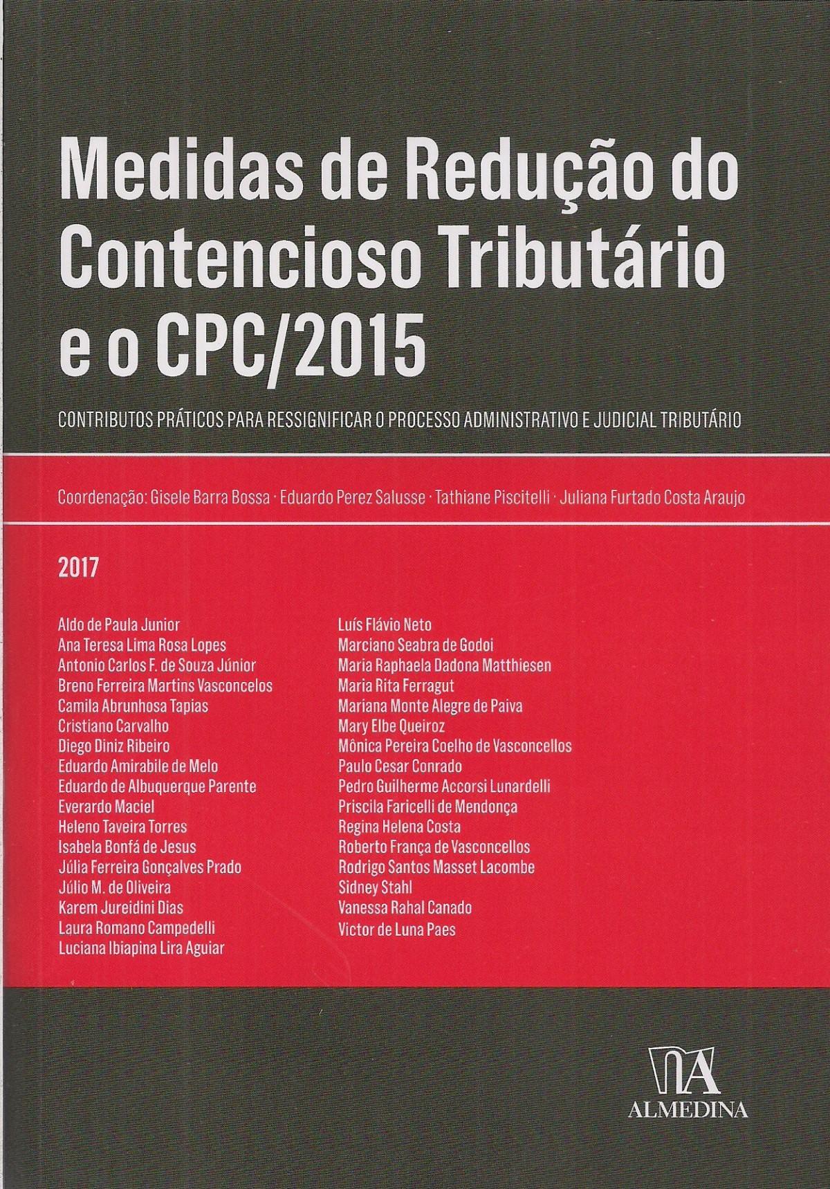 Foto 1 - Medidas de Redução do Contencioso Tributário e o CPC/2015