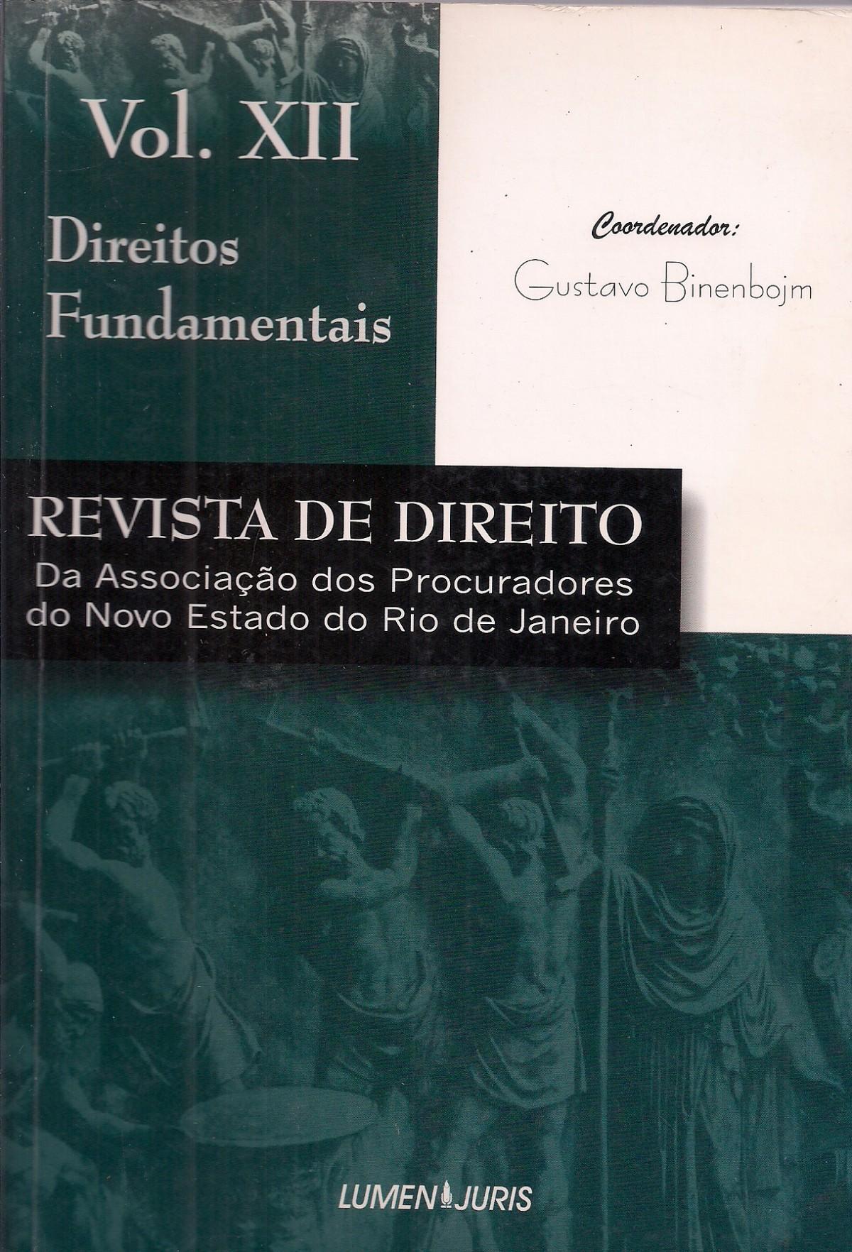 Foto 1 - Revista de Direito - Apnerj - Direitos Fundamentais - Vol XII