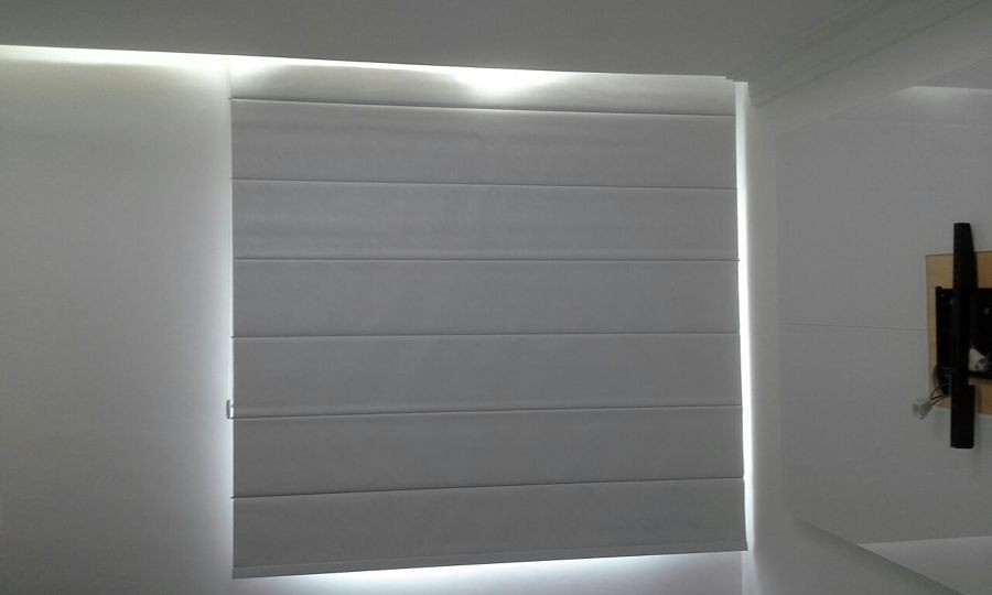 Foto7 - Cortina Romana Blackout - Coleção Pinpoint - Medida 1,80 x 1,80