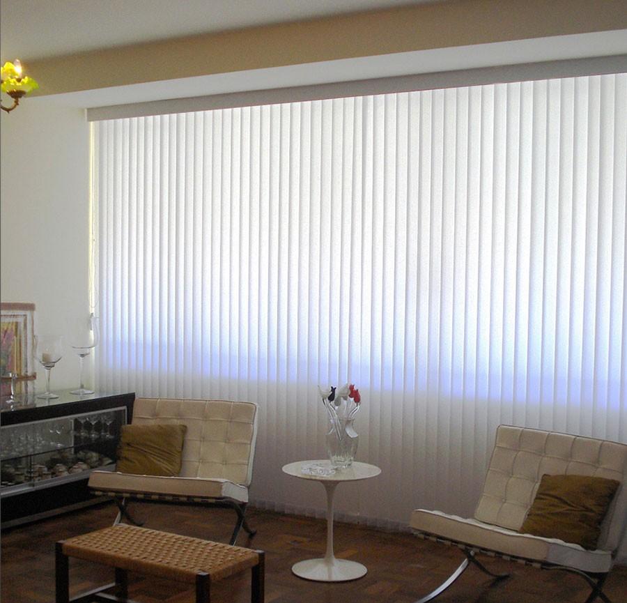 Foto6 - Persiana Vertical Polyester - Medida 1,80 x 1,80 - Com Bandô
