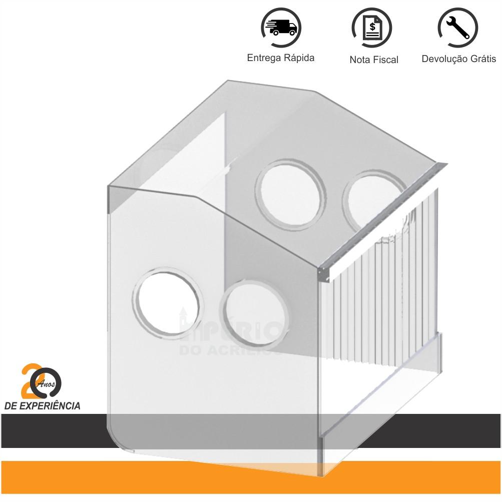 Foto2 - Caixa Isoladora em Acrílico Desmontável para Estética