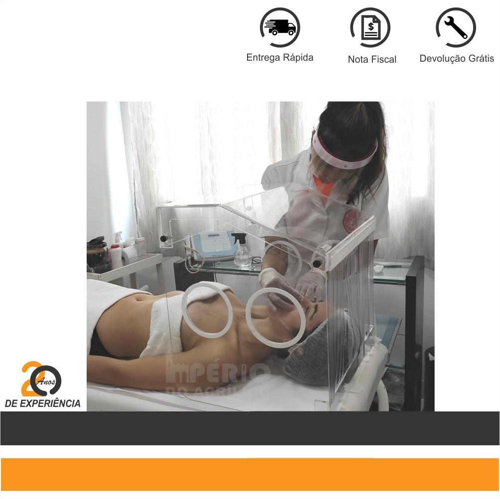 Foto4 - Caixa Isoladora em Acrílico Desmontável para Estética