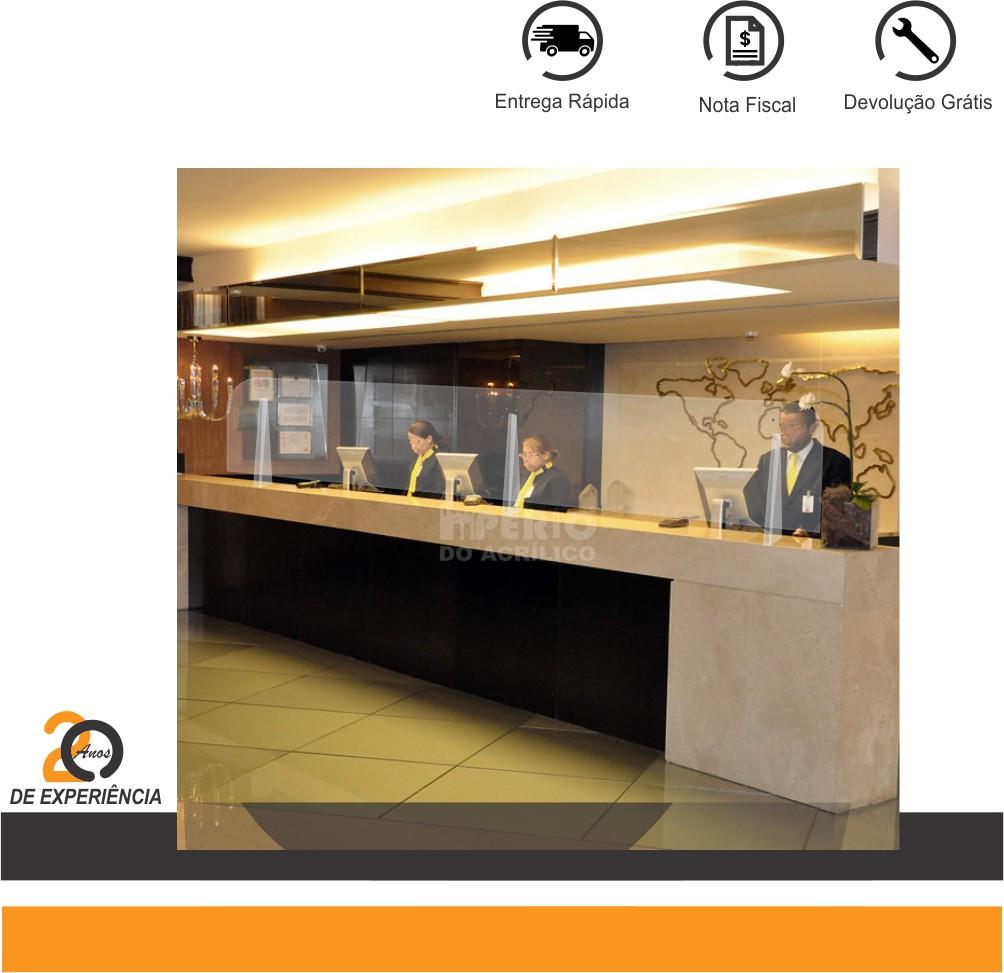 Foto 1 - Protetor em Acrílico para Recepção de Hotéis
