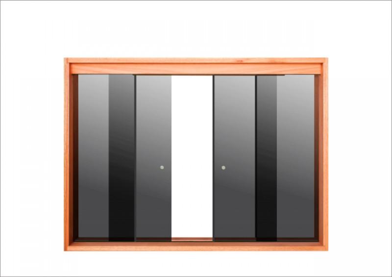 Imagem do produto Janela de correr vidro temperado (fume)