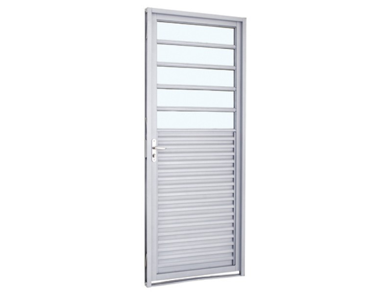 Imagem do produto Porta de abrir com veneziana e divisão horizontal