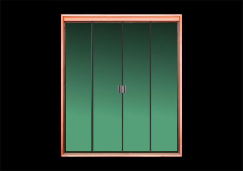 Imagem do produto Porta de correr vidro temperado (verde)