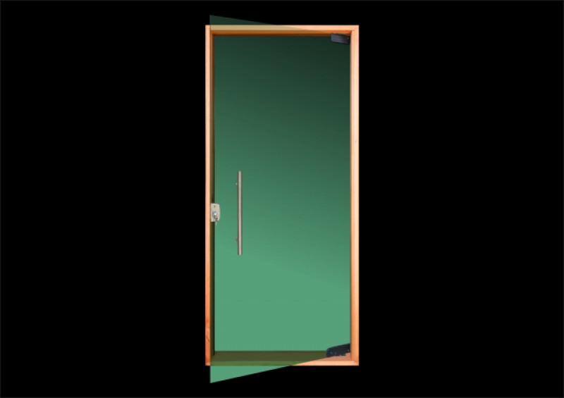 Imagem do produto Porta pivotante vidro temperado (verde)